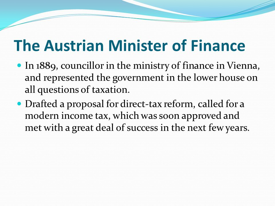 The Austrian Minister of Finance