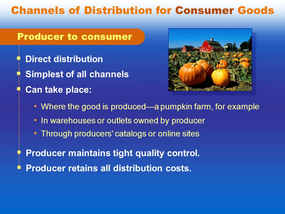 Channels of Distribution for Consumer Goods