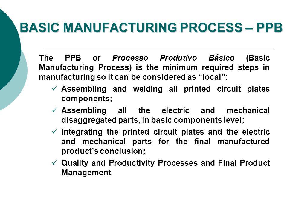 BASIC MANUFACTURING PROCESS – PPB