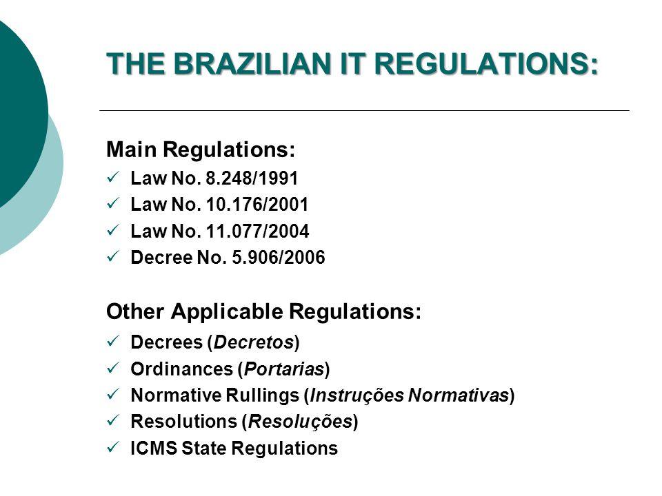 THE BRAZILIAN IT REGULATIONS: