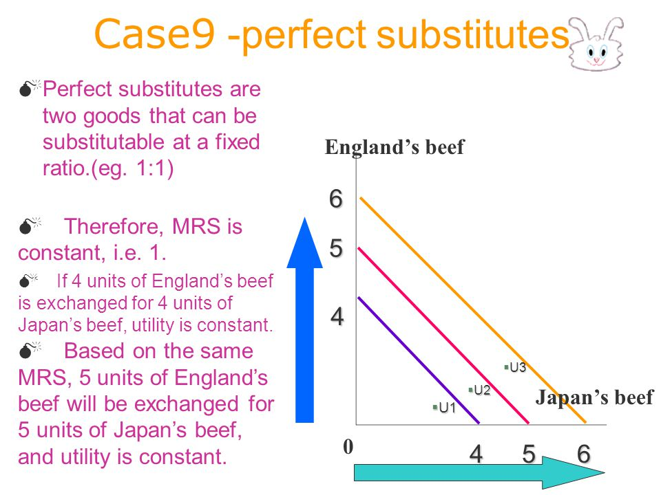 Case9 -perfect substitutes