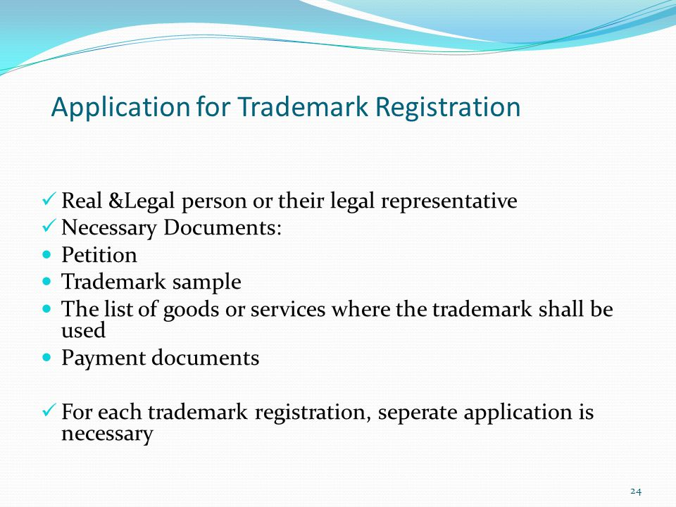 Application for Trademark Registration
