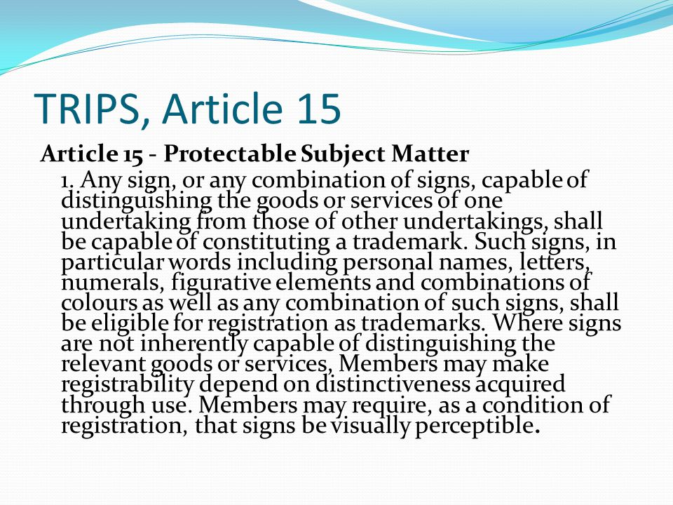 TRIPS, Article 15