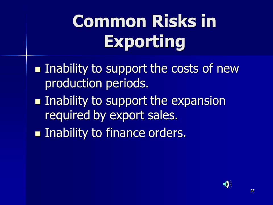 Common Risks in Exporting