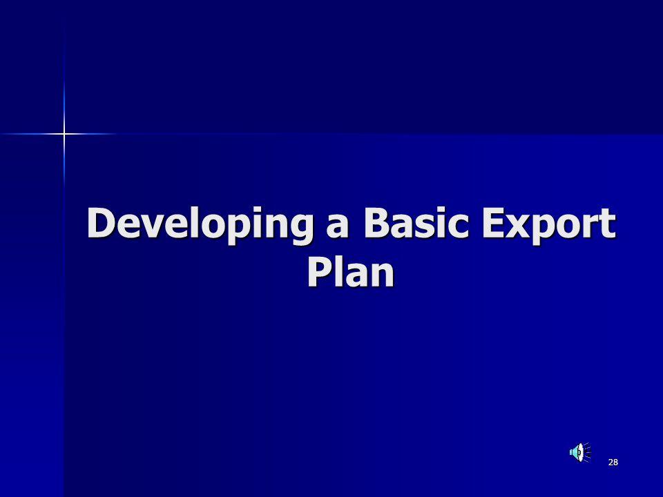 Developing a Basic Export Plan