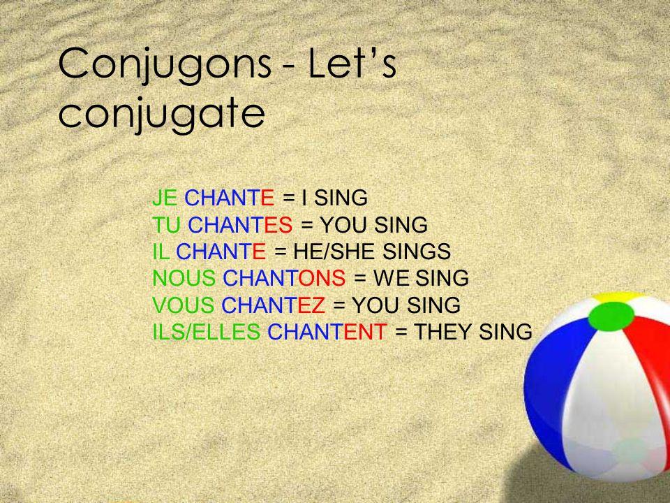 Conjugons - Let's conjugate
