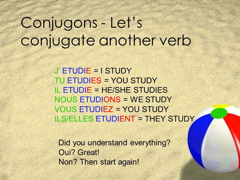 Conjugons - Let's conjugate another verb