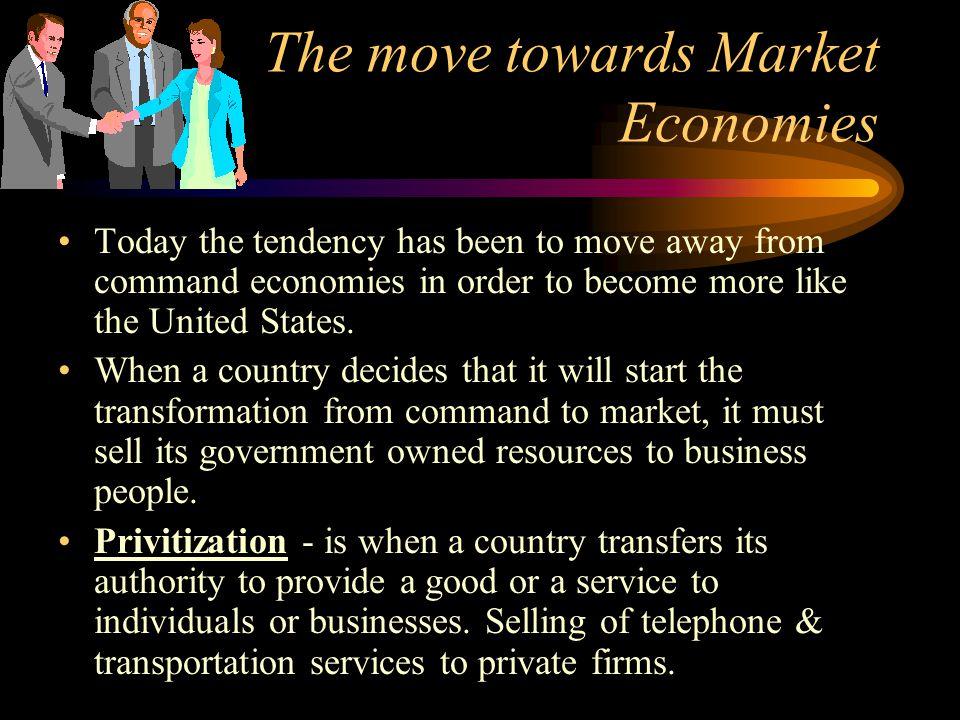 The move towards Market Economies