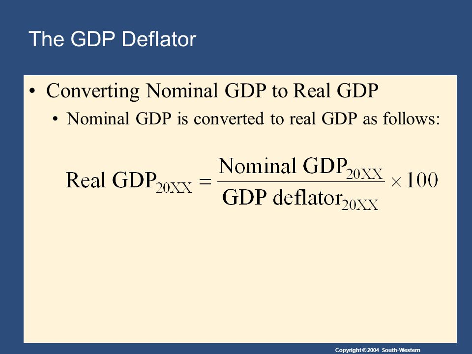 Converting Nominal GDP to Real GDP