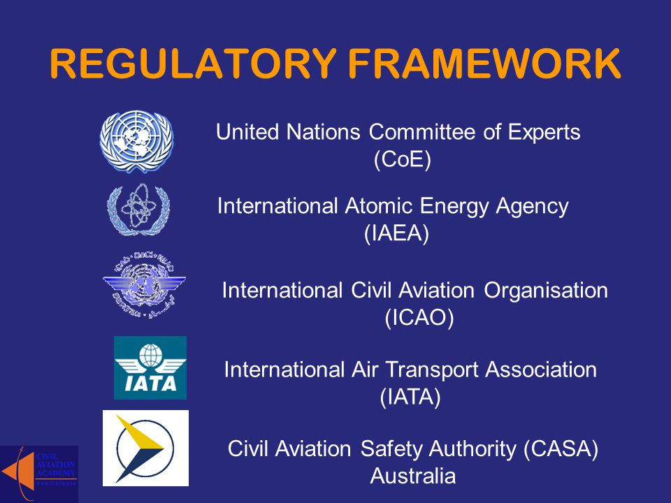 REGULATORY FRAMEWORK United Nations Committee of Experts (CoE)