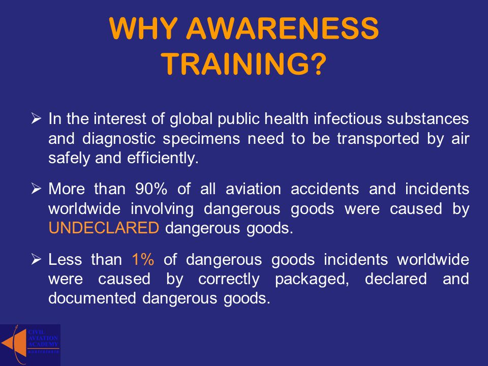 WHY AWARENESS TRAINING