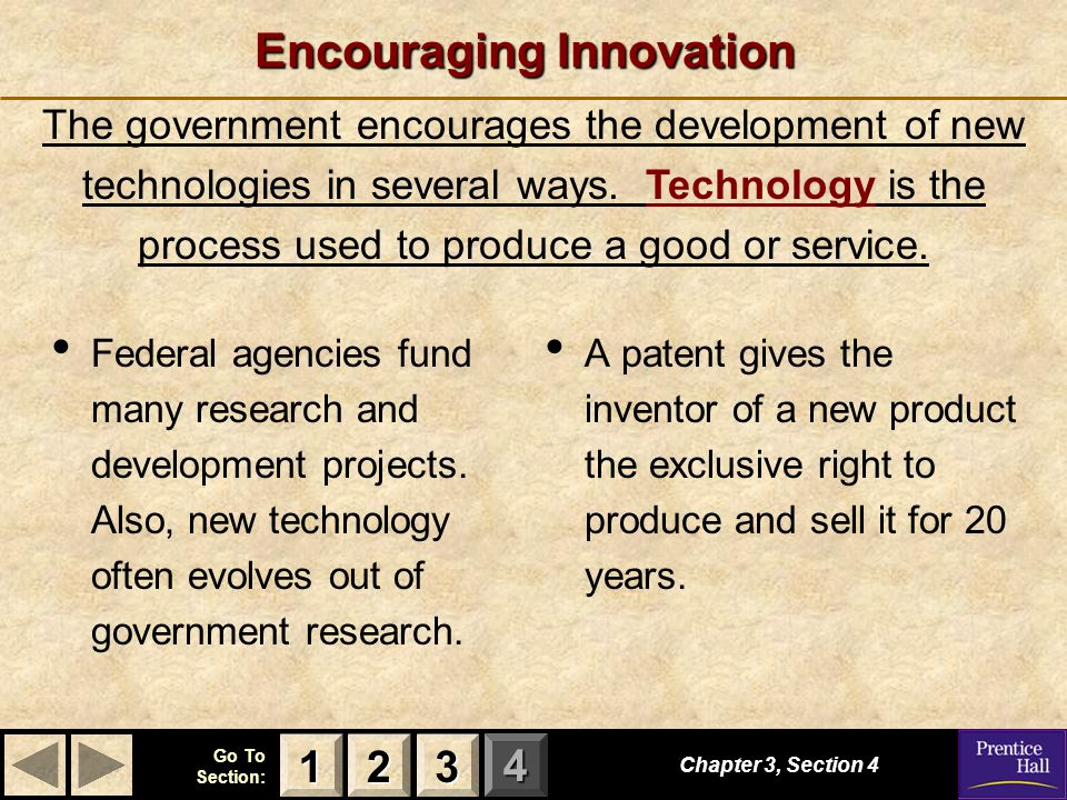 Encouraging Innovation