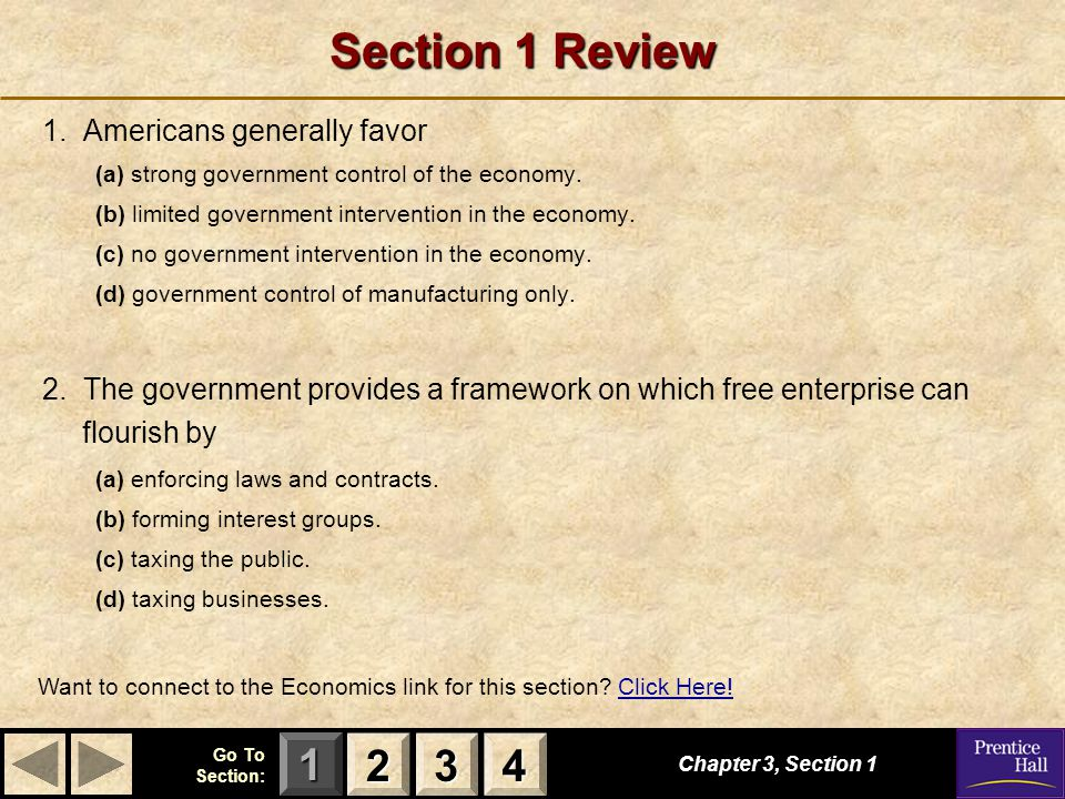 Section 1 Review 2 3 4 1. Americans generally favor