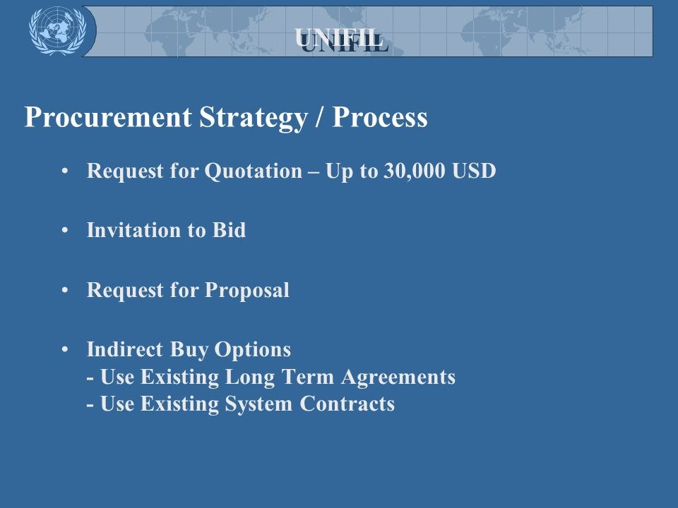 Procurement Strategy / Process