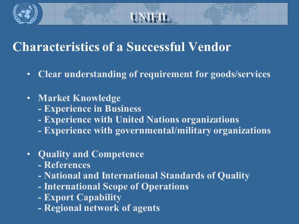 Characteristics of a Successful Vendor