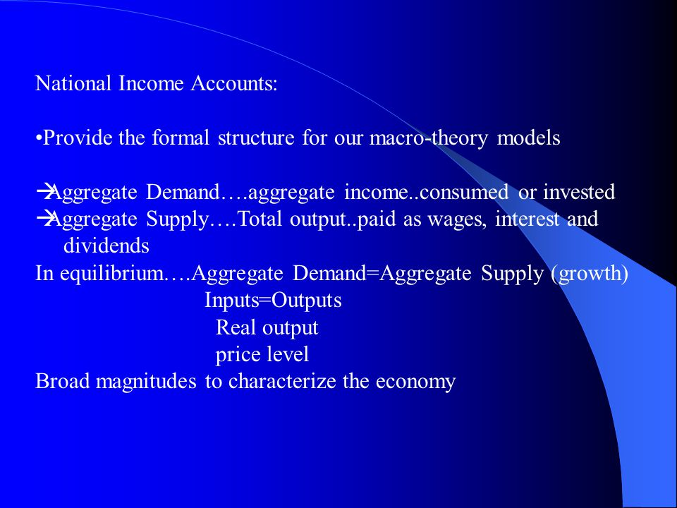National Income Accounts: