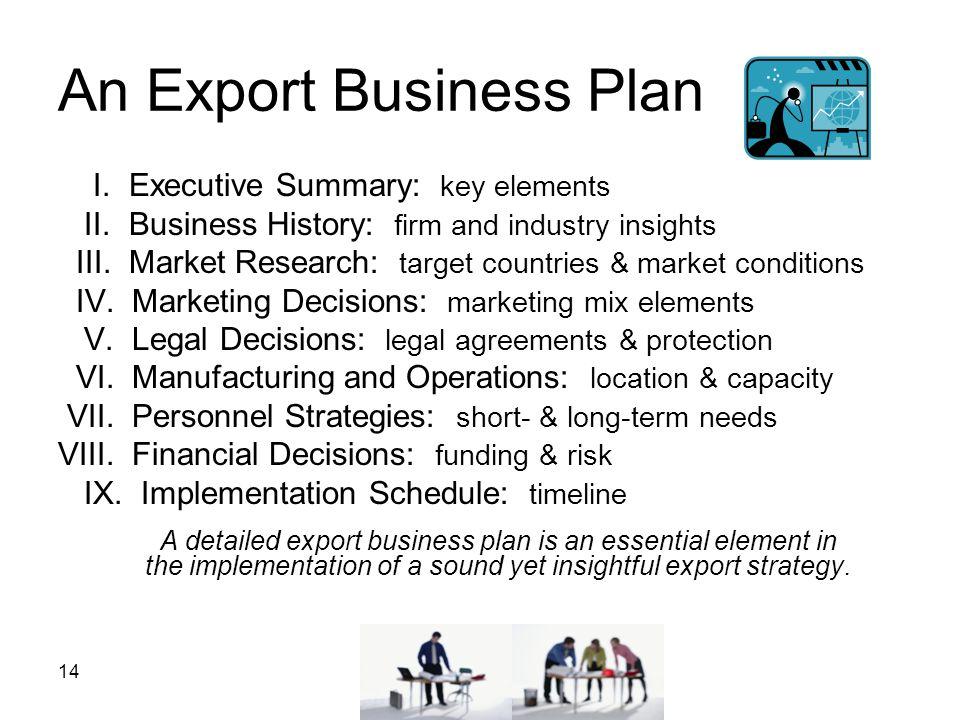 An Export Business Plan