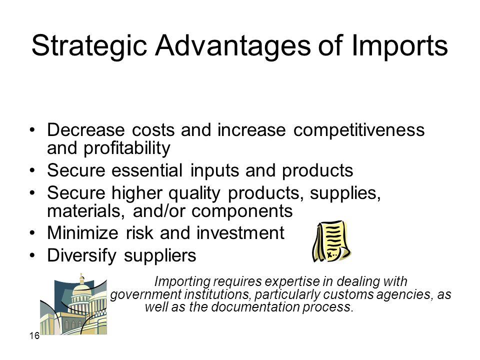 Strategic Advantages of Imports