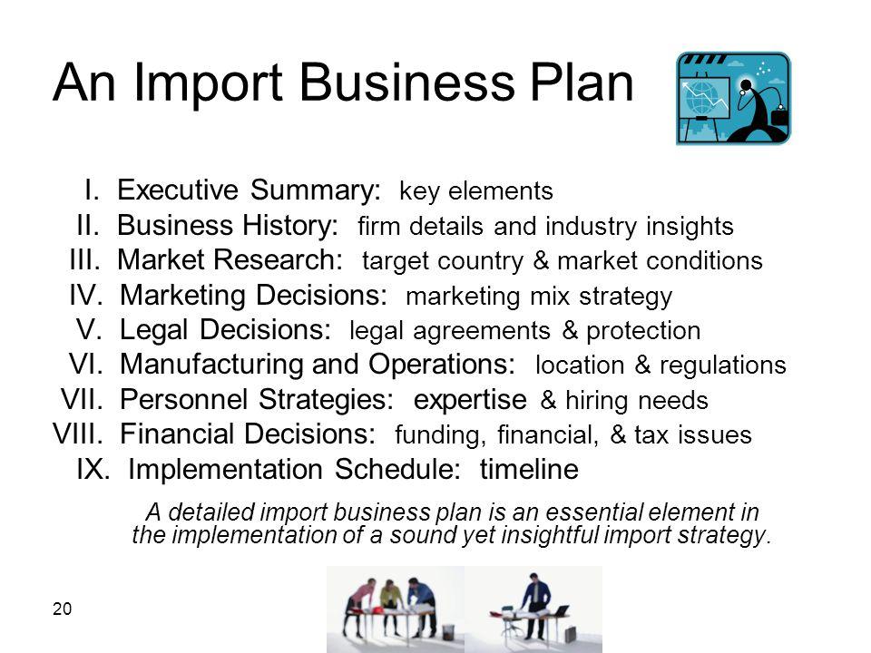 An Import Business Plan