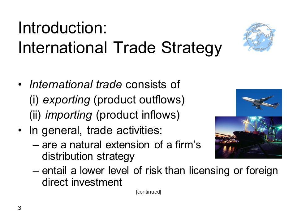 Introduction: International Trade Strategy