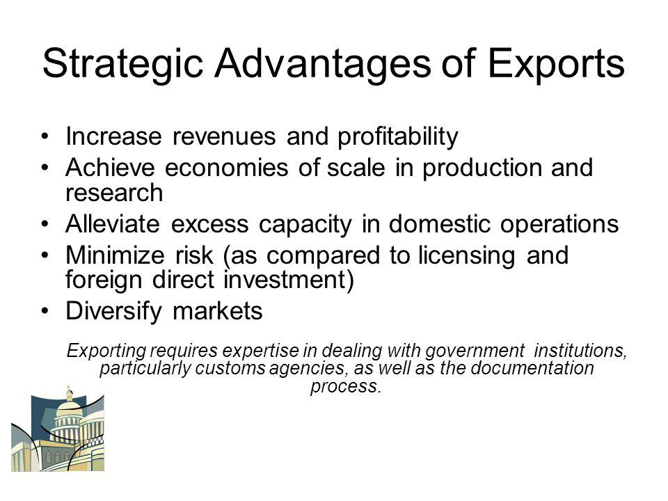 Strategic Advantages of Exports