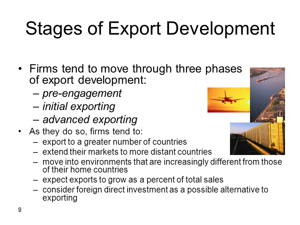 Stages of Export Development