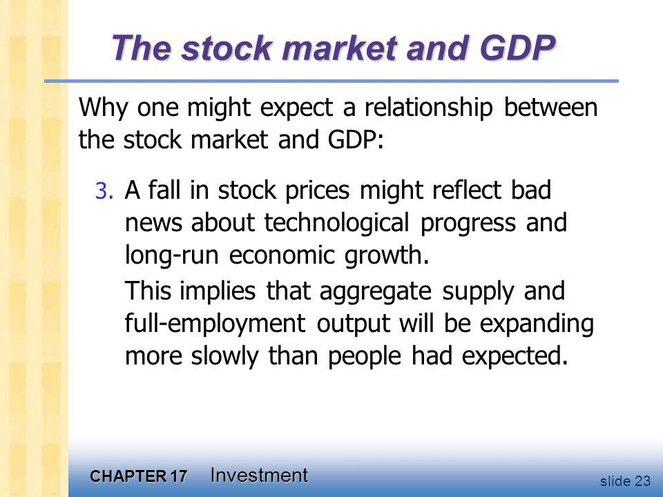 The stock market and GDP
