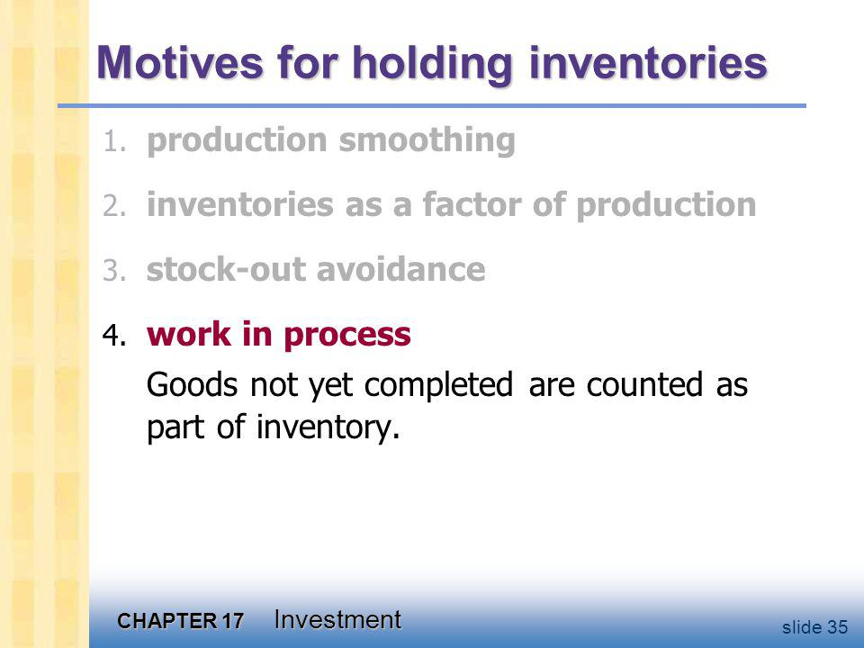 The Accelerator Model A simple theory that explains the behavior of inventory investment, without endorsing any particular motive.