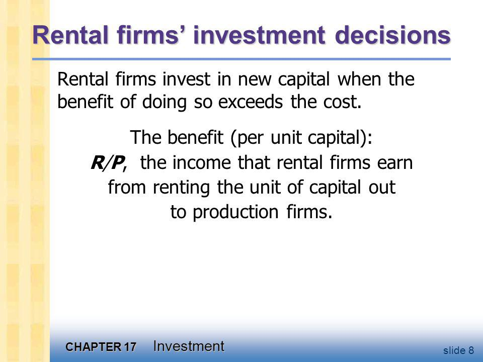 The cost of capital Components of the cost of capital:
