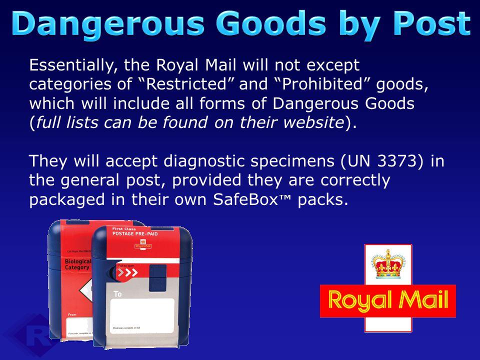Dangerous Goods by Post