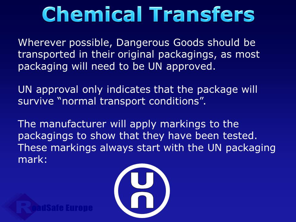 Chemical Transfers