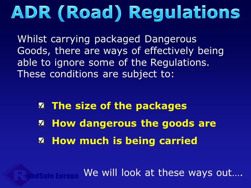 ADR (Road) Regulations