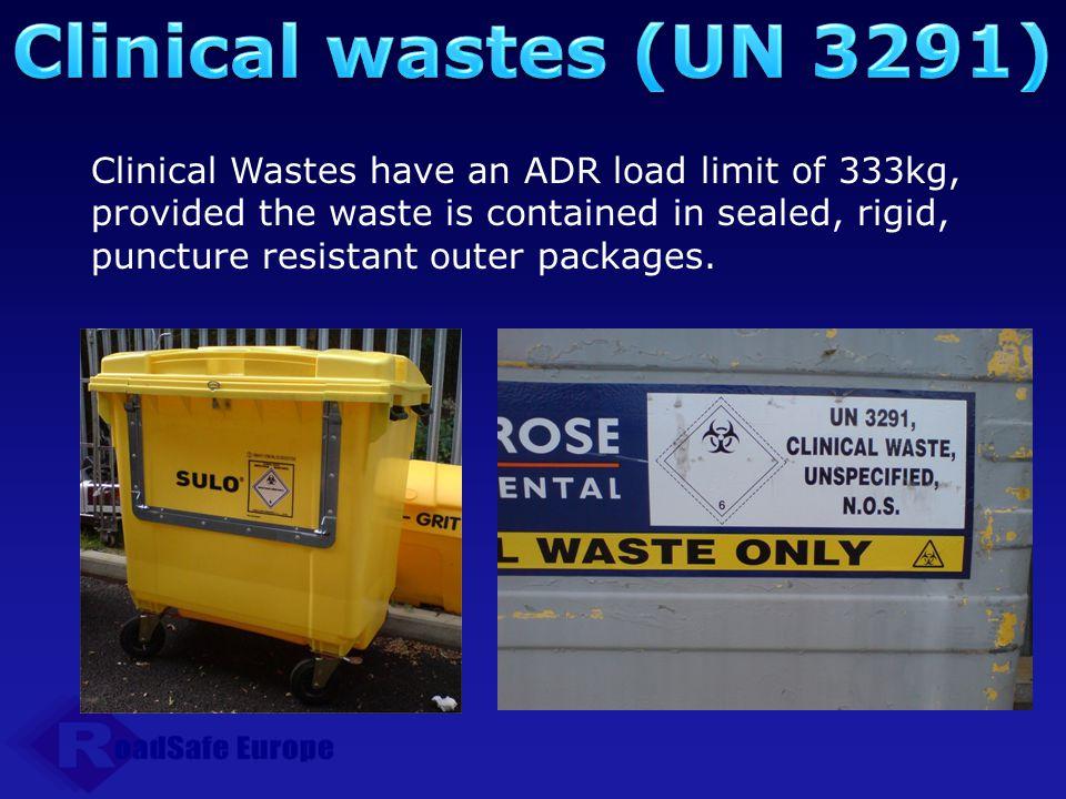 Clinical wastes (UN 3291)