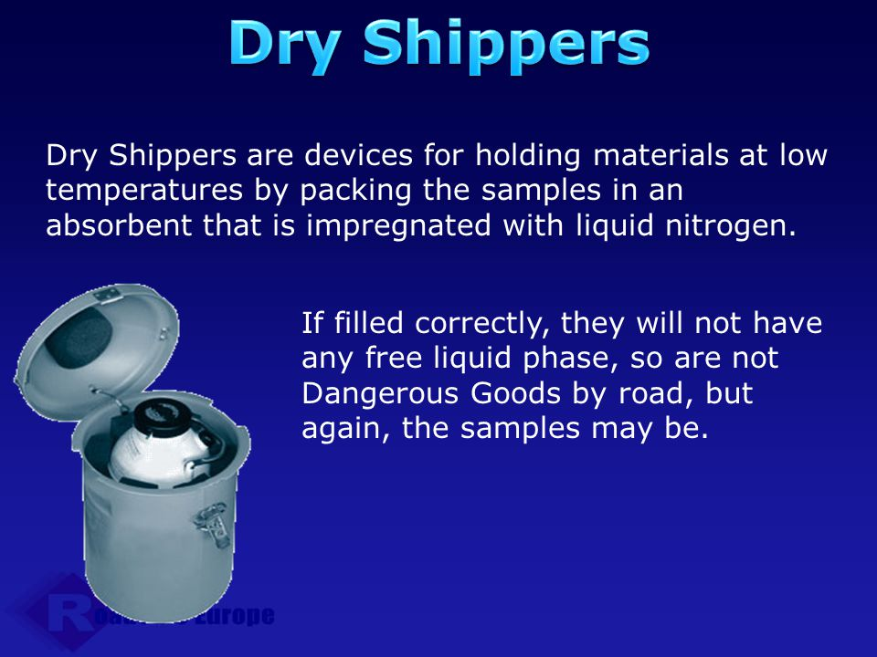 Dry Shippers