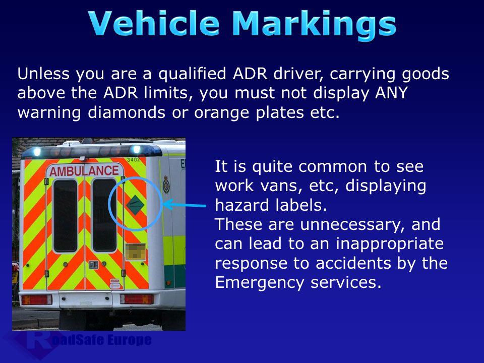 Vehicle Markings
