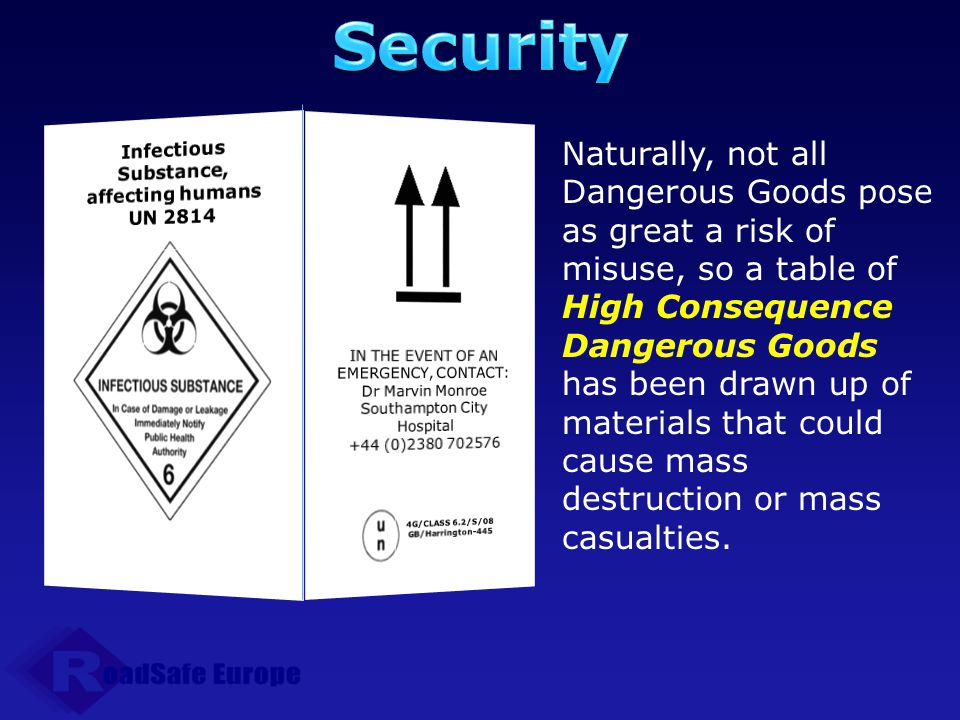 Infectious Substance, affecting humans