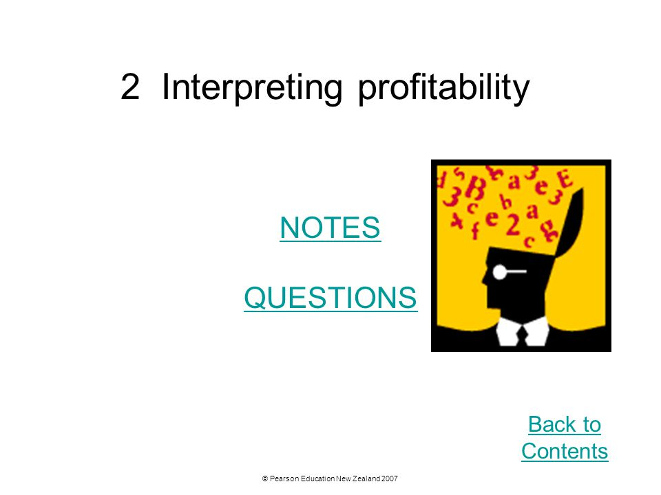 2 Interpreting profitability