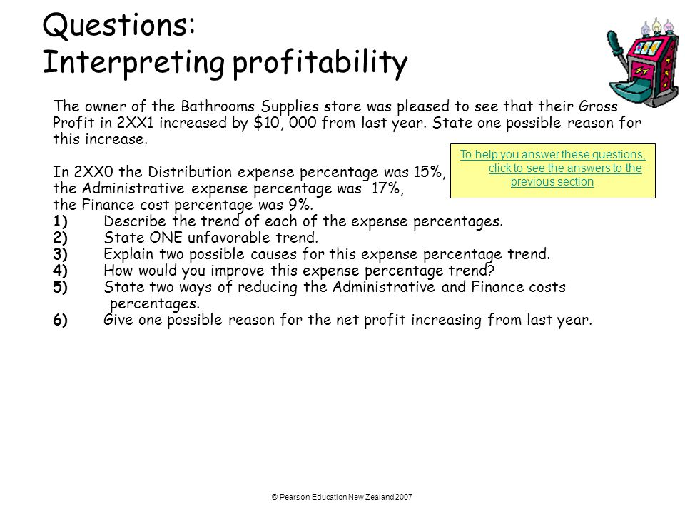 Questions: Interpreting profitability