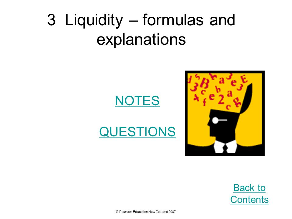 3 Liquidity – formulas and explanations