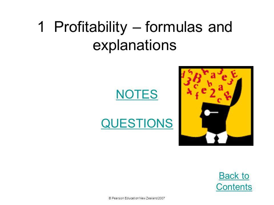 1 Profitability – formulas and explanations