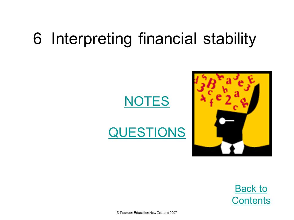 6 Interpreting financial stability