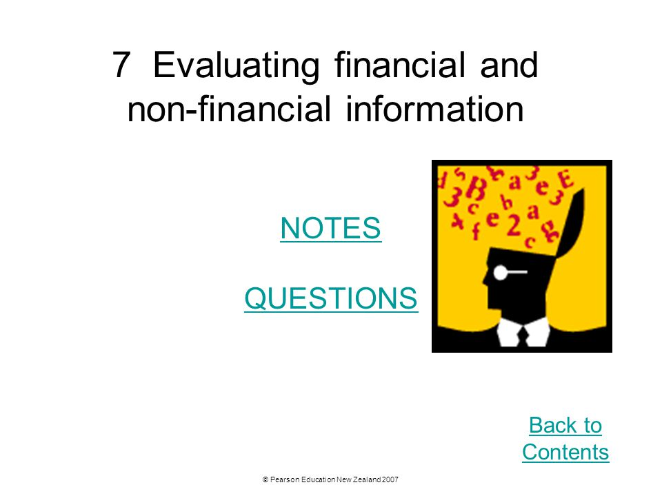 7 Evaluating financial and non-financial information