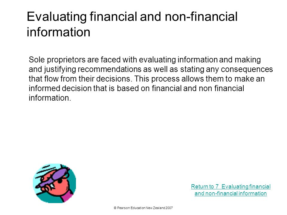 Evaluating financial and non-financial information