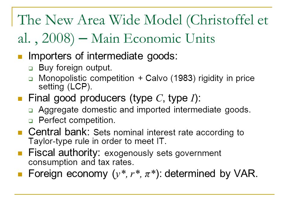 The New Area Wide Model (Christoffel et al