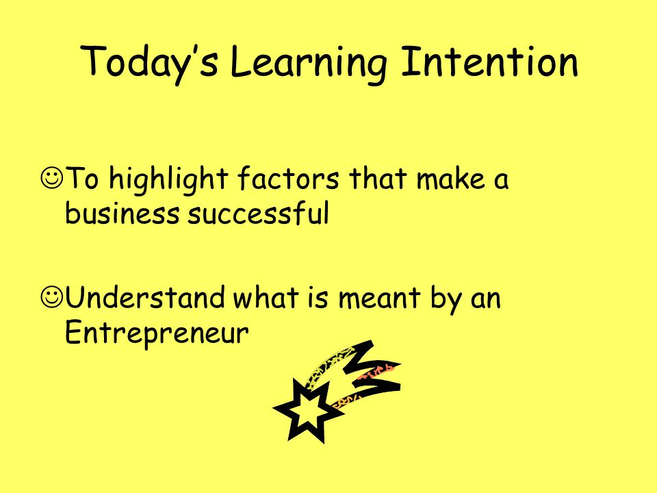 Today's Learning Intention