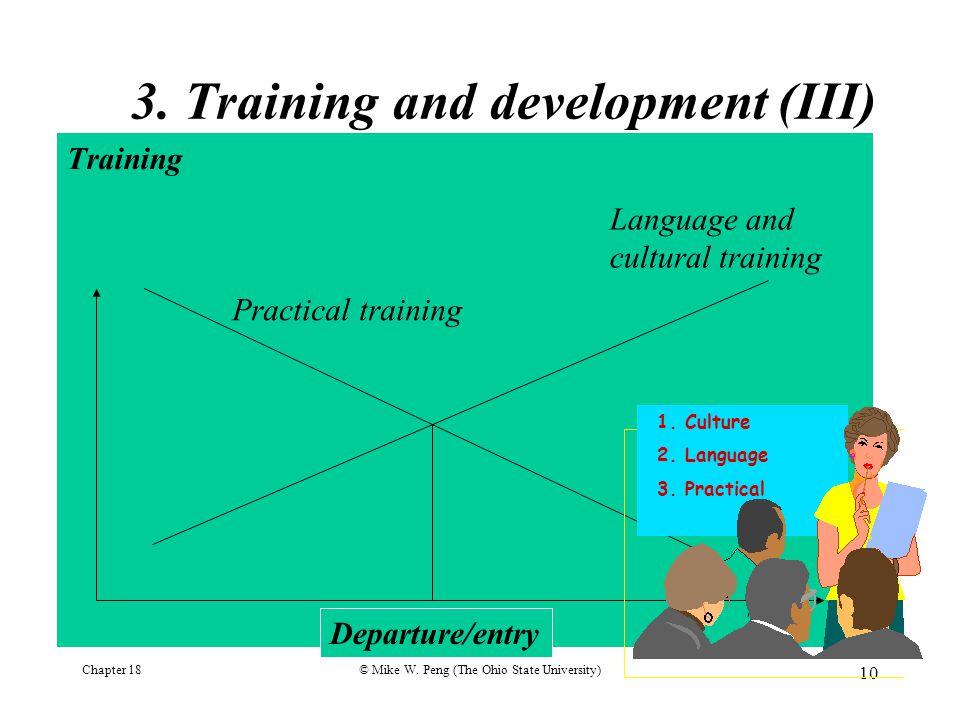 3. Training and development (III)