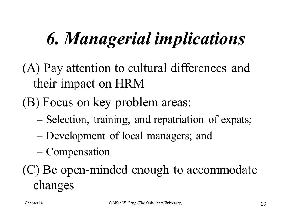 6. Managerial implications