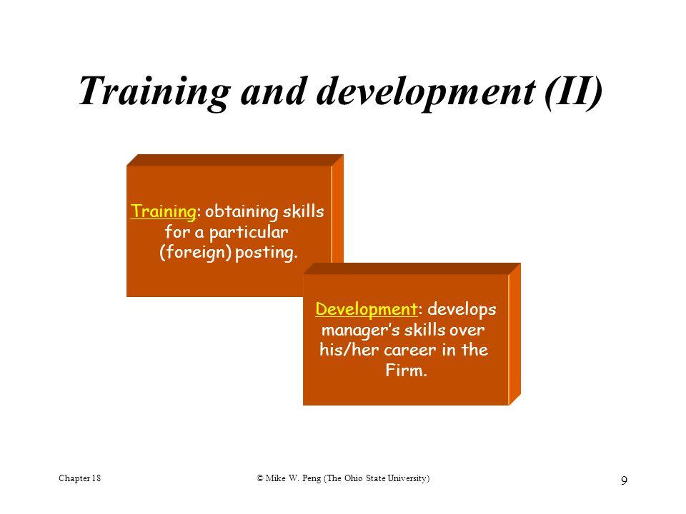 Training and development (II)