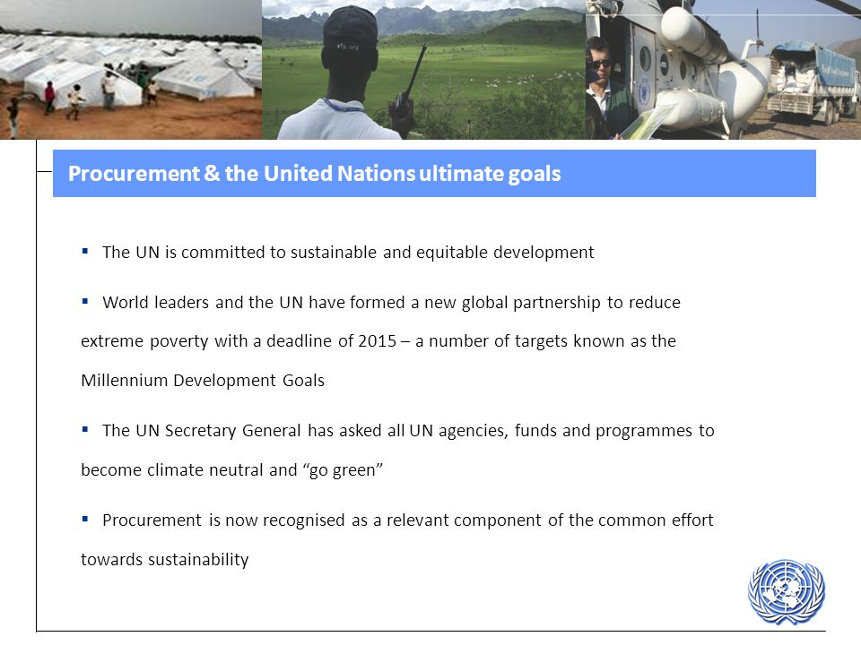 Procurement & the United Nations ultimate goals