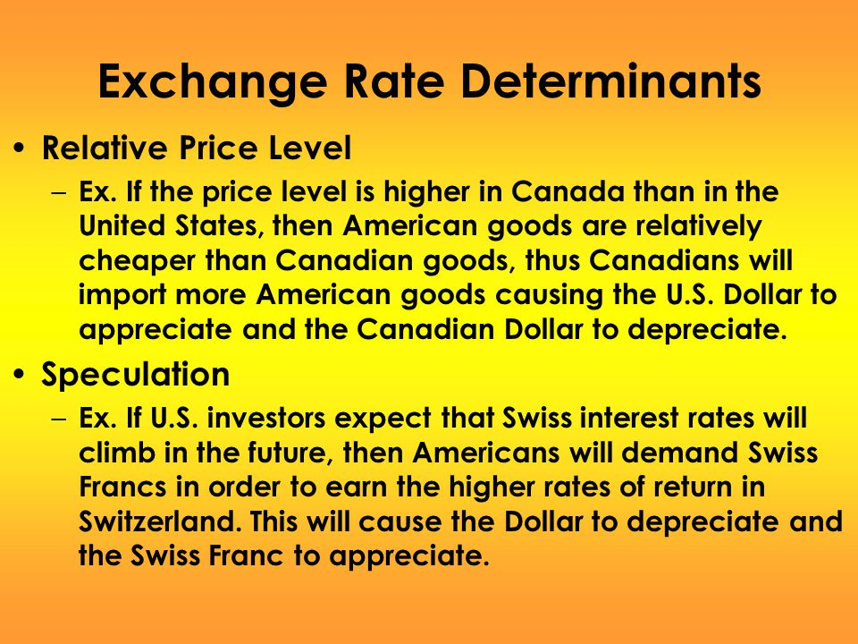 Exchange Rate Determinants